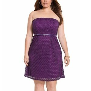 ➕ Lane Bryant Crochet Knit Belted Tube Dress 10M